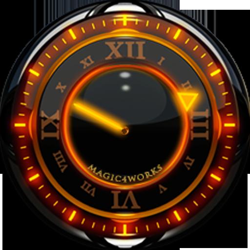 O Glow Analog Clock Widget
