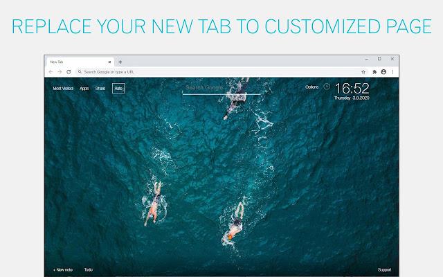 Swimming Wallpaper HD New Tab - freeaddon.com