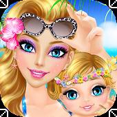 Mommy & Baby Beach Adventure
