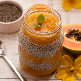 Mango Papaya Chia Pudding