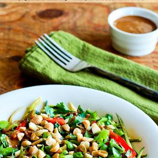 Julienned Zucchini Vegan Bowl with Peanut-Sriracha Sauce Recipe
