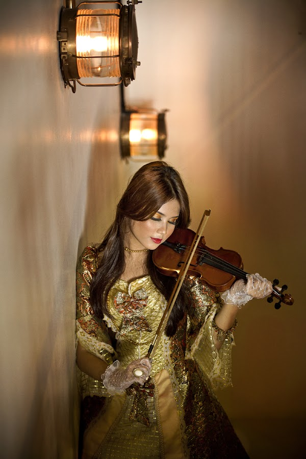 The Violinist by Afif Farisi - People Portraits of Women