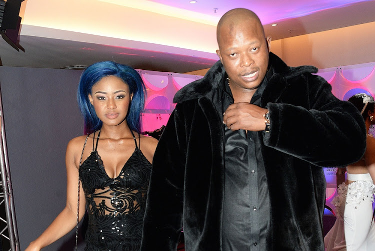 Babes Wodumo and Mampintsha during the 23rd annual South African Music Awards ceremony at Sun City on May 27 2017 in Rustenburg.