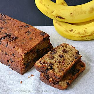 Chocolate walnut banana bread/ Eggless chocolate walnut banana bread