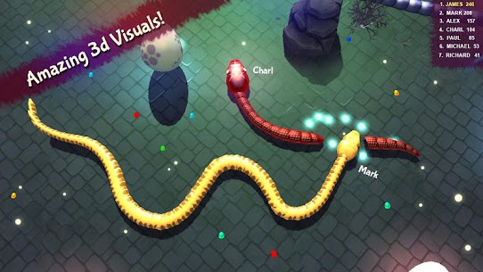 3D Snake . io MOD Apk (Unlimited Money) 4