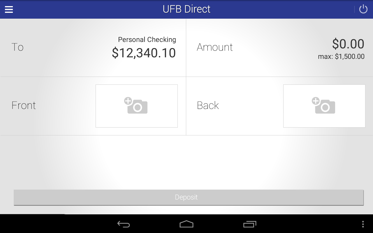 UFB Direct Mobile App- screenshot