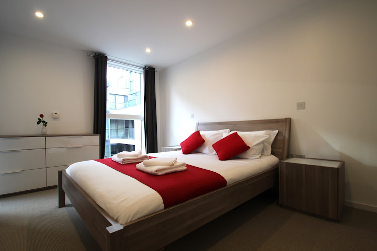 Luxury bedroom at Dance Square serviced apartments