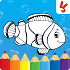 Coloring games for kids animal icon