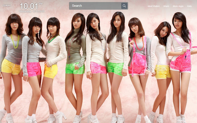 K-Pop Wallpapers Theme New Tab