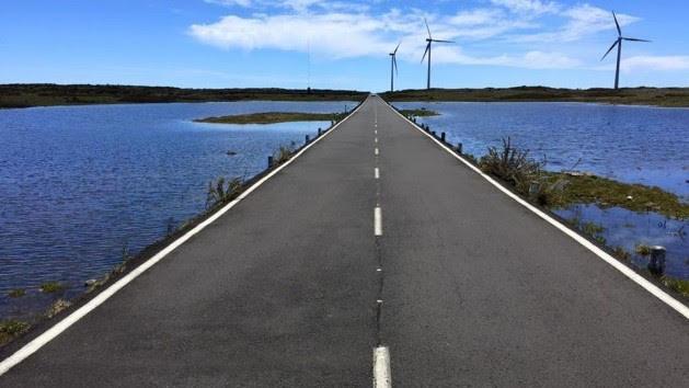 grote meren in Paúl da Serra na zware regenval