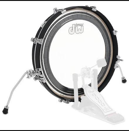 """20"""" x2,5"""" DW Design Pancake Bass Drum - Flat Black"""