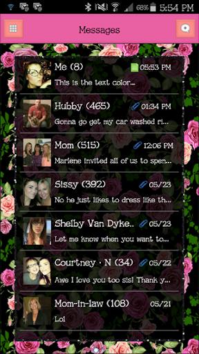 GO SMS - FlowerLove11