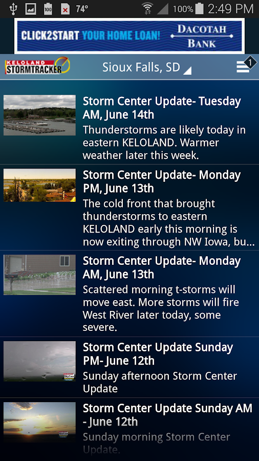 KELOLAND Storm Tracker- screenshot