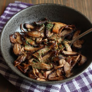 Garlic Butter & Soy Sauce Mushrooms.