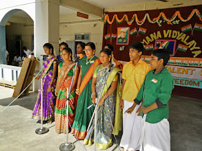 Photo: Bharatha Samuthaayam vaazhgave!! - a musical rendition by the school choir group