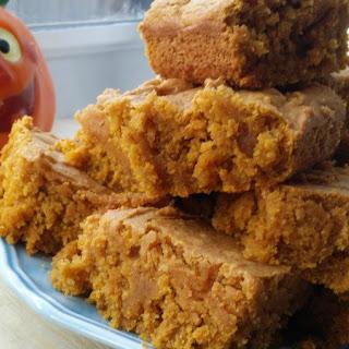 Pumpkin Maple Blondies. Vegan and Gluten Free.