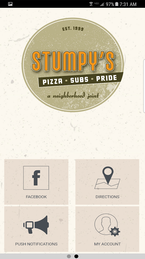 Stumpys Pizza- screenshot