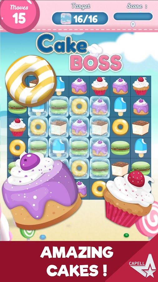 Cake Boss - Match-3 Jelly- screenshot