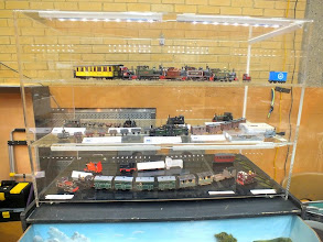 Photo: 011 A superb display of models presented mainly by members of the 009 Society Sussex Downs Group with some of Ted Polet's models on the top shelf, representing the Dutch Group .