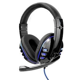 Casti Audio Gaming cu LED, Microfon rotativ, Negru
