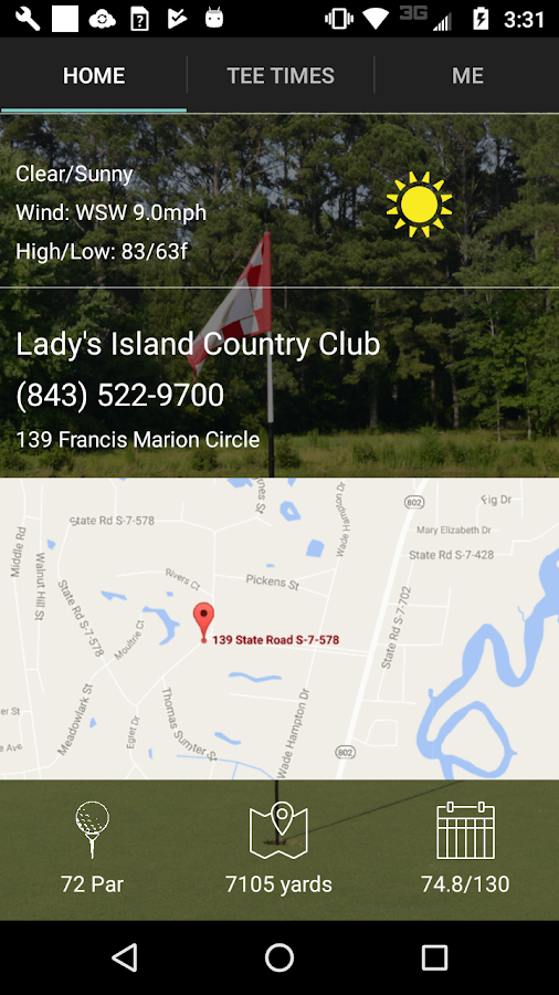 Lady's Island Golf Tee Times- screenshot