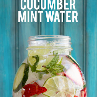Strawberry, Lime, Cucumber and Mint Infused Water.