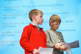 Photo: 25. Januar, Berlin, Deutschland, Preisverleihung digitaler Mathematik-Adventskalender des DFG-Forschungszentrums MATHEON UND DER DEUTSCHEN MATHEMATIKER- VEREINIGUNG DMV[Foto: KAY HERSCHELMANN Telefon:+49 (0)30-2927537 Mobil: +49 (0)171 26 73 495 email: Kay.Herschelmann@t-online.de, Berliner Sparkasse BAN: DE02 1005 0000 1554 5828 37 BIC-/SWIFT-Code: BE LA DE BE BLZ: 10050000 Konto-Nr.:1554582837 Alle Rechte vorbehalten. Abdruck nur gegen Honorar (zzgl. Mwst) und Belegexemplar. Urhebervermerk wird gemaess Paragraph 13 UrhG verlangt. Weitergabe an Dritte nur mit Genehmigung des Fotografen. NO MODEL RELEASE!]