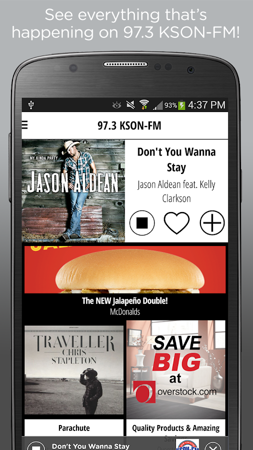 KSON, San Diego's #1 Country – Screenshot