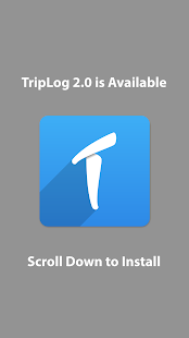 TripLog 1.0 (older version) - náhled