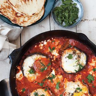 Portobello Shakshuka with Baked Eggs and Israeli Feta