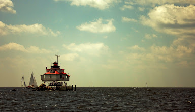 Photo: Afternoon Sailing at Thomas Point | Thomas Point Lighthouse in the Chesapeake Bay, MD © 2009 Ryan Lynham