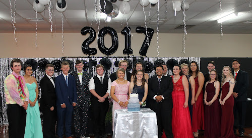 A FORMAL OCCASSION: At the Wee Waa Bowling Club on Saturday night were Wee Waa High School Year 12 students, back, William Leverton, Lateisha Doolan, Douglas Anderson, Connor Stanfield, Dean Platt, Tom Pattison, Nathan Moon, Abby Downes, Connor Oudenryn, Chloe Murphy, Maddison Galagher, Annabelle Russell, Joshua Arthur, Kylie Eldridge, Amber Johnston, Tyrell Toomey, front, Tarisha Scaysbrook, Montana Jones and Darcy Lang.