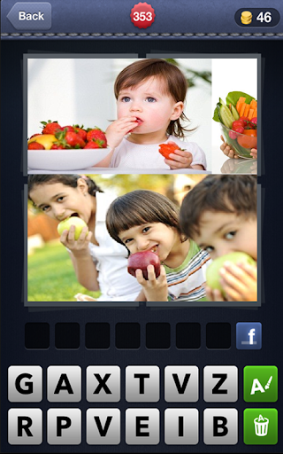 4 Pic 1 Word Fruit Kids