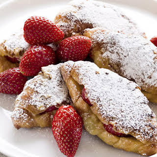 Strawberry Croissant French Toast.