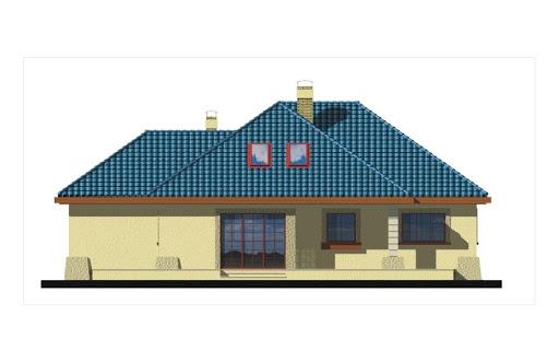 Akacja II wersja B z pojedynczym garażem - Elewacja tylna