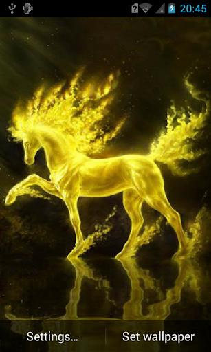 Golden horse live wallpaper