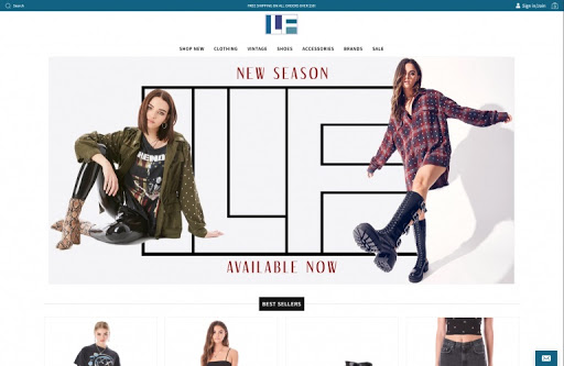Fashion web design theme for local business in los angeles.