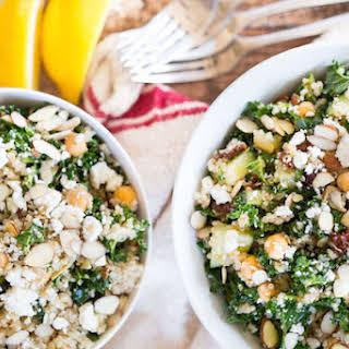 Mediterranean Quinoa and Kale Salad.