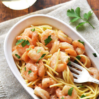 Shrimp Parmesan Noodles in White Wine Sauce