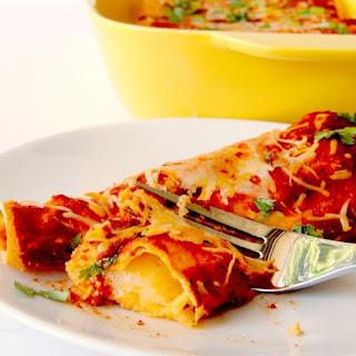 Easy Cheese Enchiladas.