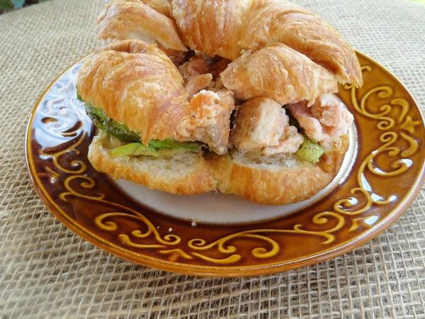 Wasabi Mayo Salmon And Avocado Sandwich Recipe