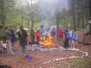 Photo: Schwitzhüttenfeuer brennt