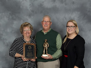 Photo: 2015 IMAA Miner of the Year, Walt Tharp of IMI with his family