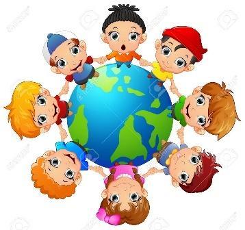 Glückliche Kinder Hand Auf Der Ganzen Erde Halten Lizenzfrei ...