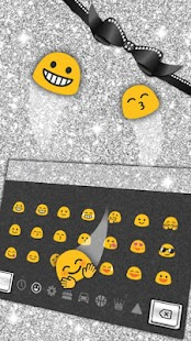 Sliver Butterfly Keyboard Téma - náhled