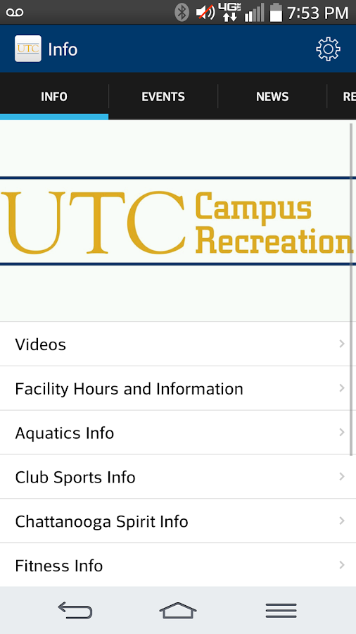 UTC Campus Rec- screenshot