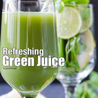 Refreshing Green Juice.