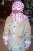 Photo: Kaleya all bundled up for school - 1/5/12