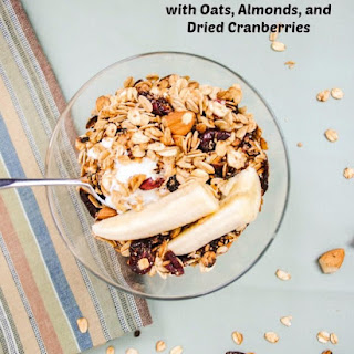 Stovetop Granola with Oats, Almonds, and Cranberries