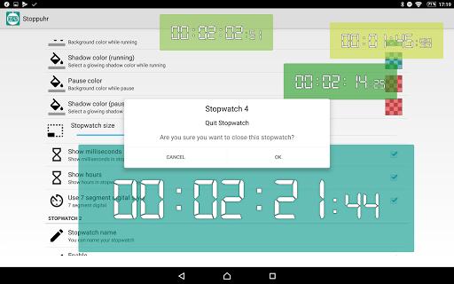 Floating Stopwatch, free multitasking timer 3.2.7 screenshots 16